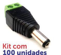 CONECTOR P4 MACHO COM BORNE PACOTE 100 PEÇAS