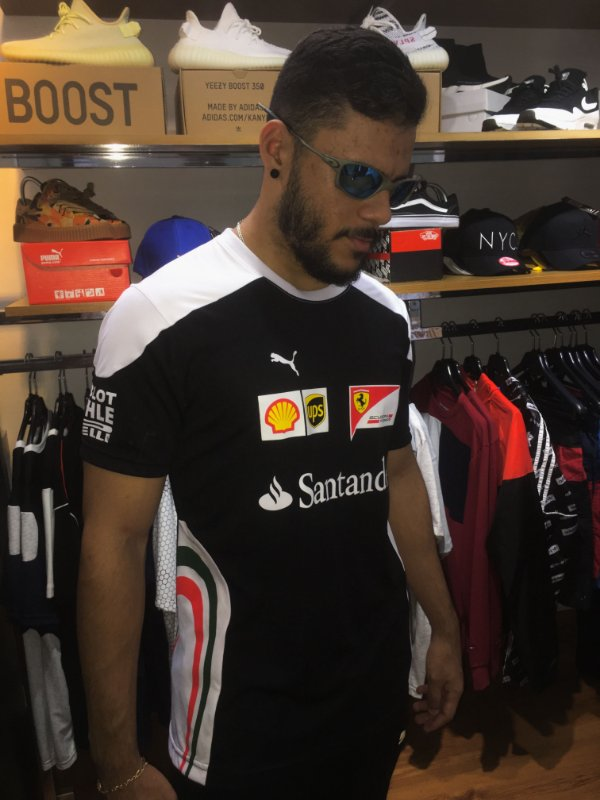 Camiseta Puma Ferrari  Santander  - Preta - Rabello Store e4249c94a83