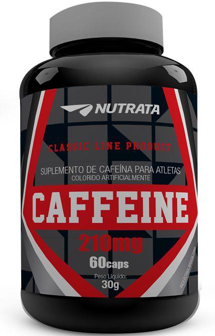 Caffeine 210mg (60 Caps) Nutrata - Barato Suplementos