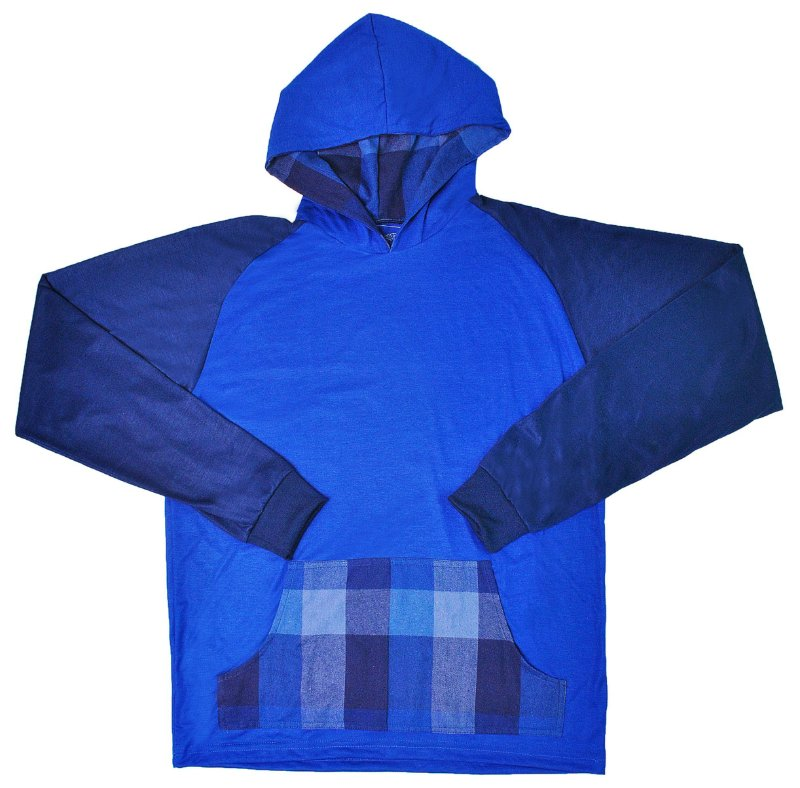 Camiseta Capuz e Canguru Lumberjack Azul
