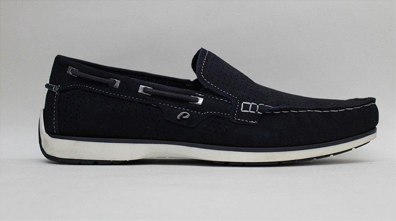 Sapato Couro Mocassim Masculino Pegada 141002-04 Jeans Blue