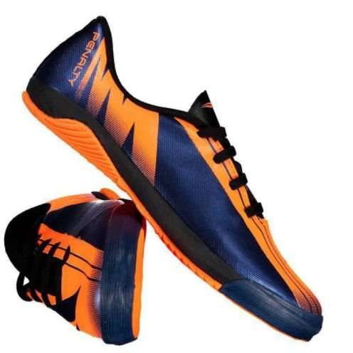 Tênis Chuteira Futsal Penalty Attom VIII – Laranja / Marinho – 116167/6080