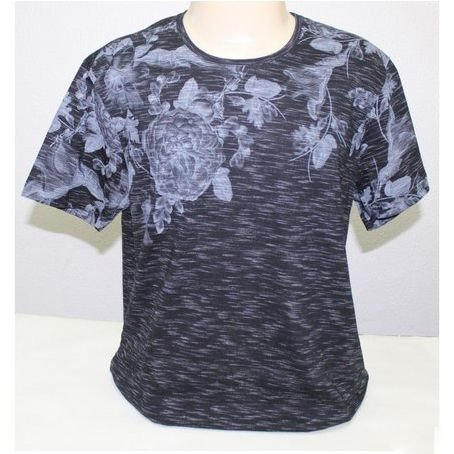 Camiseta Flamê Prime Slim Fit Manga Curta Estampa Floral SVK 1230448