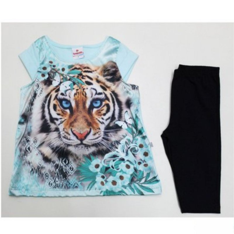 Conjunto tigresa 2 peças com Legging Brandili 22333