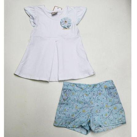 Conjunto Blusa Cótton com Shorts Tricolini Milon 9109
