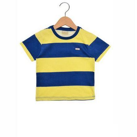 Camiseta Milon Manga Curta Menino Azul 8319-2311