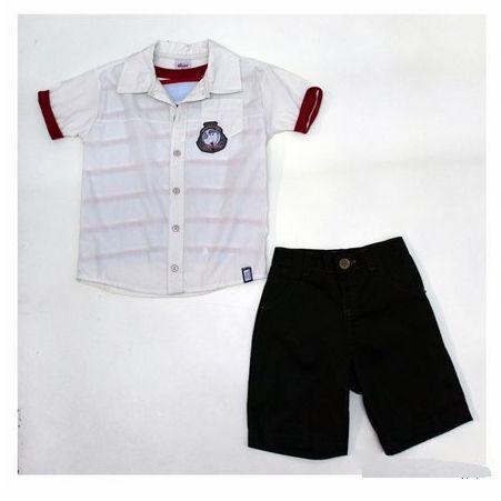Conjunto 2 peças com Camisa Sobreposta e Bermuda Sarja Elian 20360