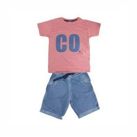 Conjunto 2 peças Camiseta com Aplicação e Bermuda Colorittá 17950