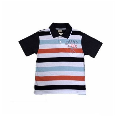 Camisa Pólo Manga Curta Listrada Bordado Milon 3669