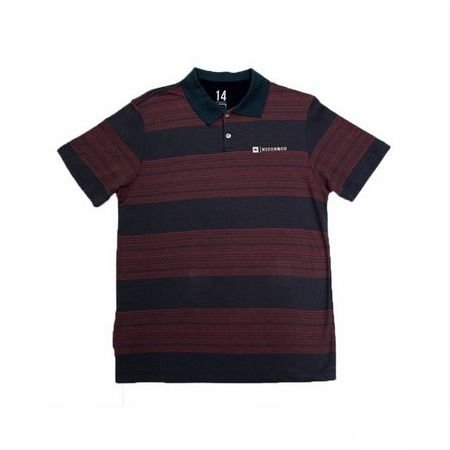 Camiseta Polo Listrada Estampada Manga Curta Nicoboco 61165