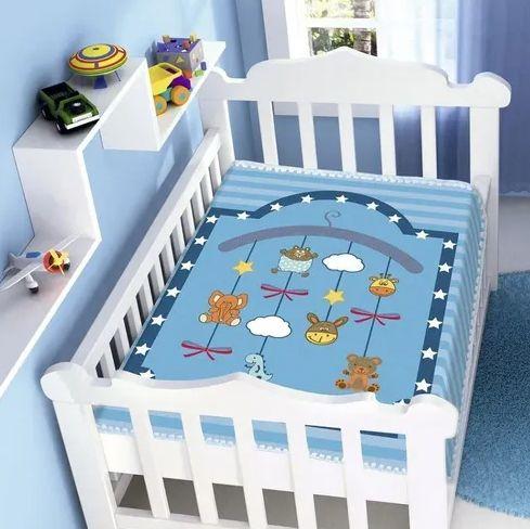 Cobertor Infantil Raschel Mobile - Jolitex