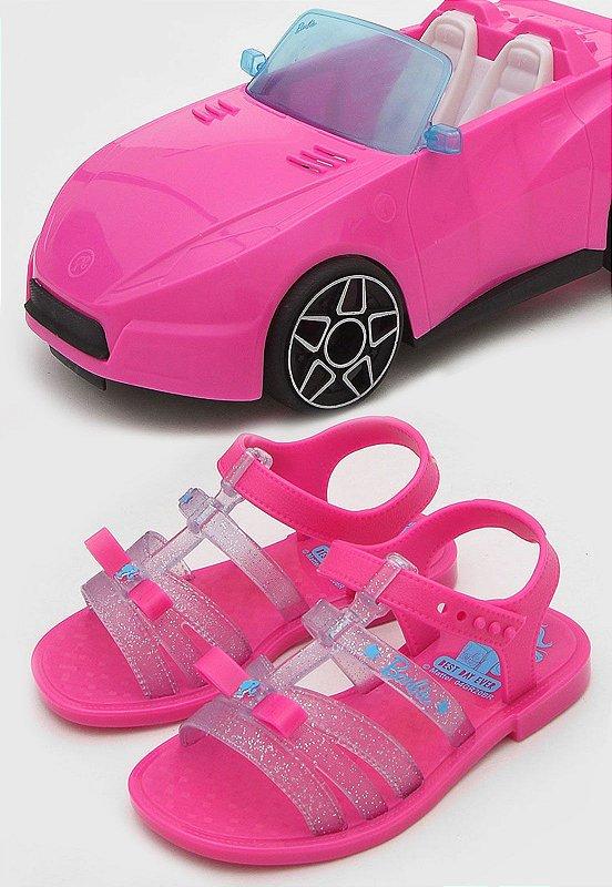 Sandália Grendene Kids Infantil Barbie Pink Car Rosa