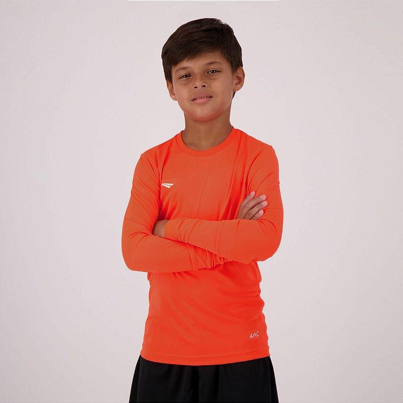 Camisa Penalty Matis UV Manga Longa Juvenil Laranja 3105823327