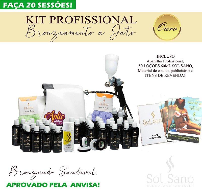 Kit Profissional para Bronzeamento a Jato (OURO)