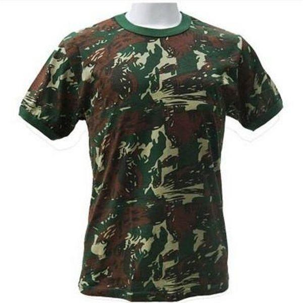 Camisa Camuflada do Exército 100% Algodão Artigos Militares - Toca ... 000dd415a3c