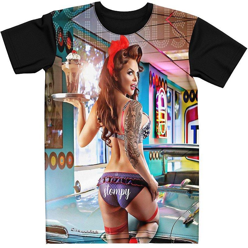 Stompy Camiseta Girl Tattoo Tatuagem