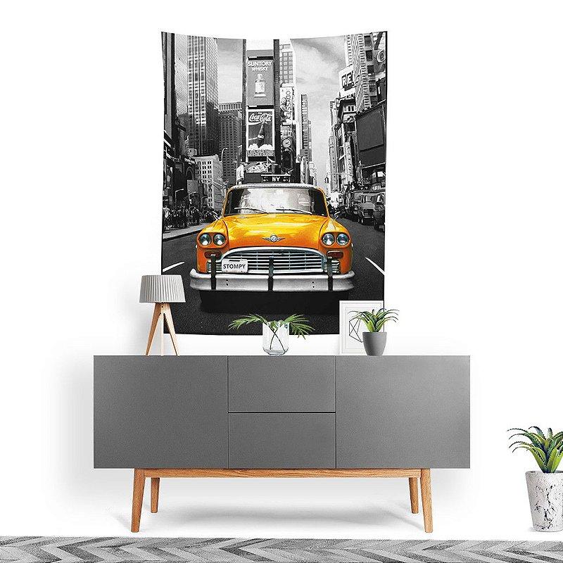 Stompy Tecido Decorativo Tactel Yellow Car