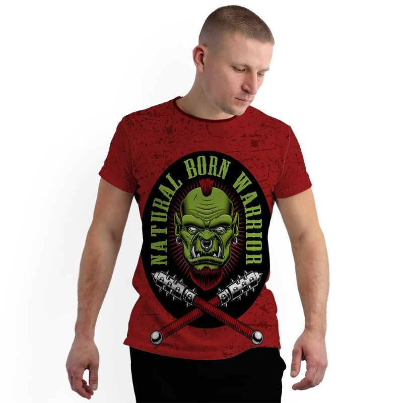 Stompy Camiseta Full Print Born Warrior