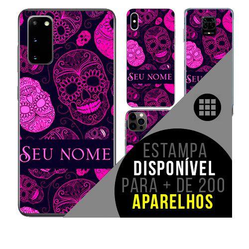 Capa de celular personalizada com nome - todos aparelhos - caveiras mexicanas