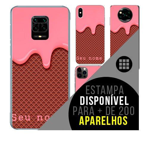 Capa de celular personalizada com nome - todos aparelhos - Sorvete