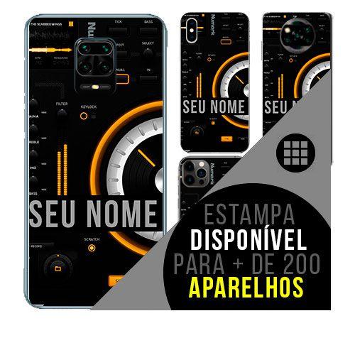 Capa de celular personalizada com nome - todos aparelhos - Música eletrônica