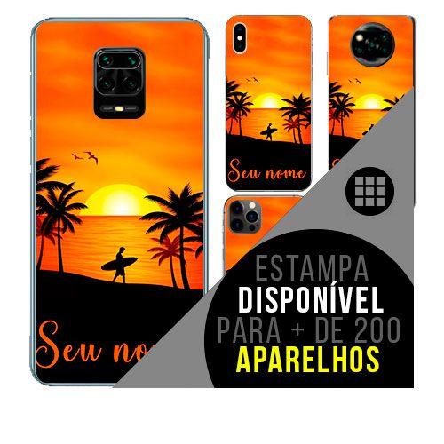 Capa de celular personalizada com nome - todos aparelhos - Surf