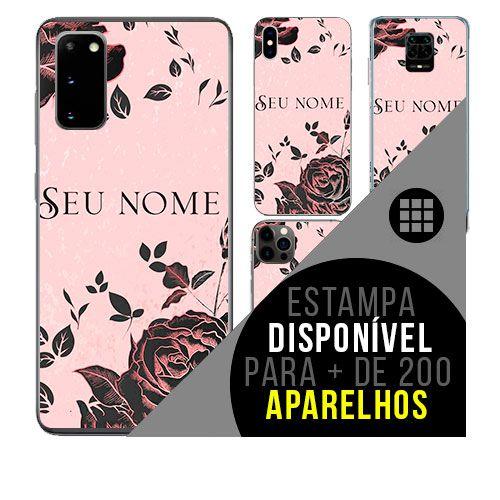 Capa de celular personalizada com nome - Flores