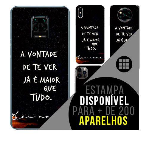 Capa de celular personalizada com nome - Frases de amor romântico