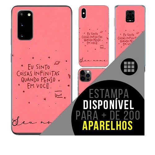 Capa de celular personalizada com nome - todos aparelhos - Frase amor marido e mulher