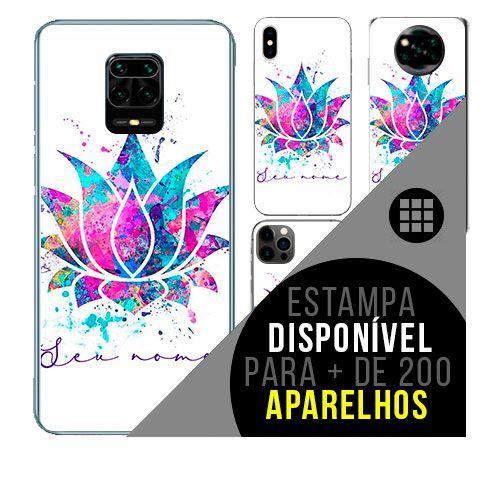 Capa de celular personalizada com nome - todos aparelhos - Flor de lótus
