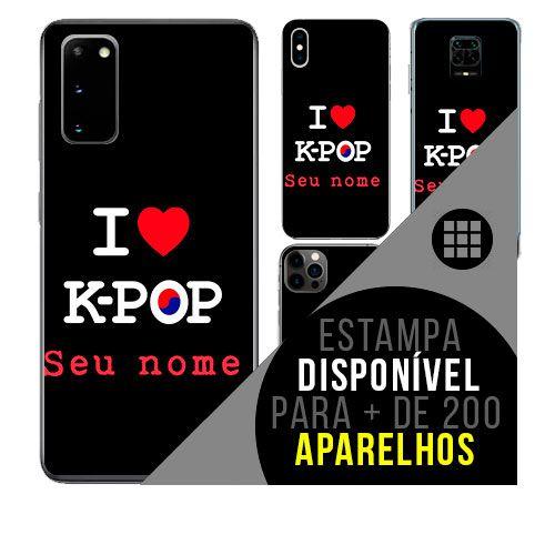 Capa de celular personalizada com nome - todos aparelhos - i love k-pop