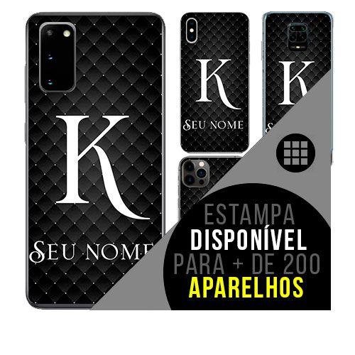 Capa de celular personalizada com nome - Letra K
