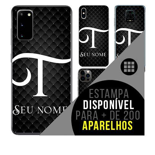 Capa de celular personalizada com nome - Letra T -  todos aparelhos
