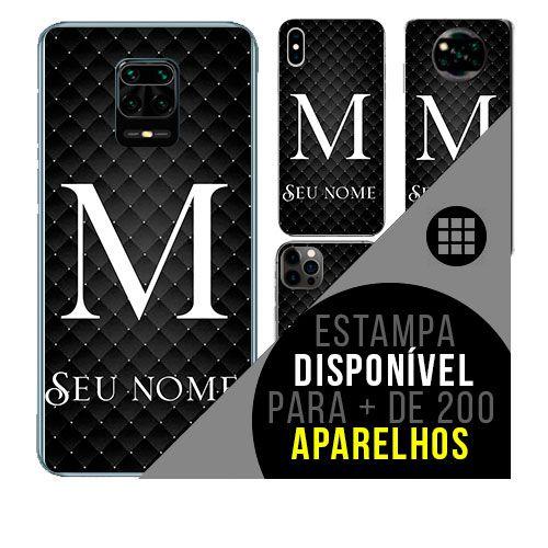 Capa de celular personalizada com nome - Letra M