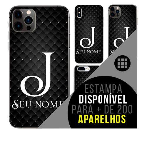 Capa de celular personalizada com nome - Letra J