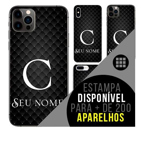 Capa de celular personalizada com nome - Letra C