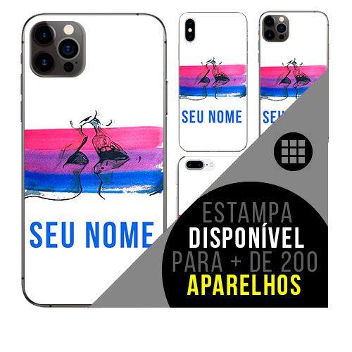 Capa de celular personalizada com nome - LGBT Bissexual Bi