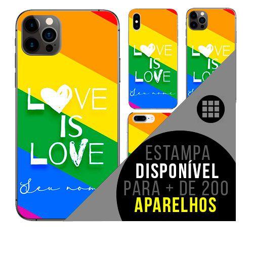 Capa de celular personalizada com nome - LGBT LGBTQ LGBTQIA+
