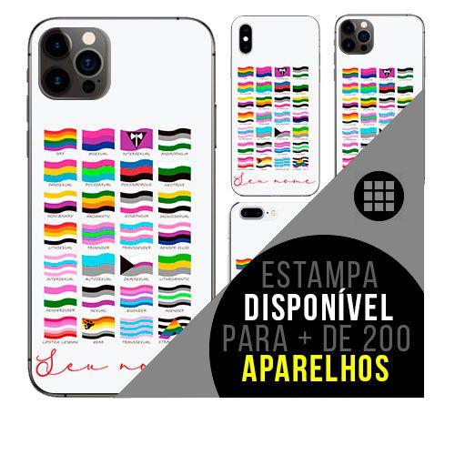 Capa de celular personalizada com nome - LGBT Bandeiras