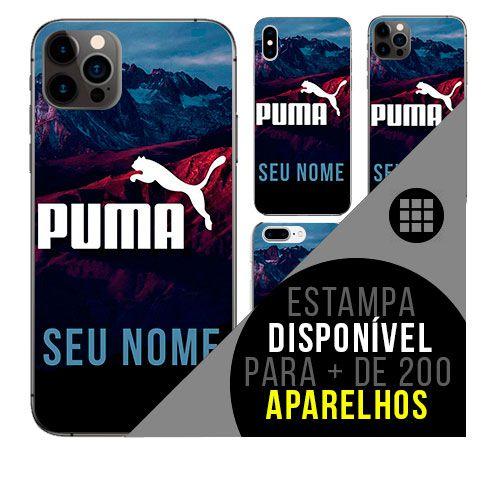 Capa de celular personalizada com nome - Puma