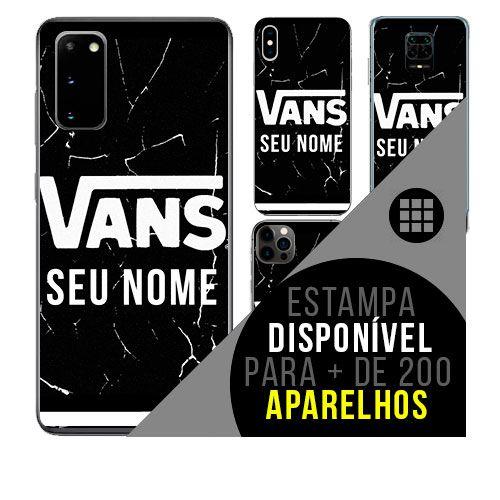 Capa de celular personalizada com nome - Vans