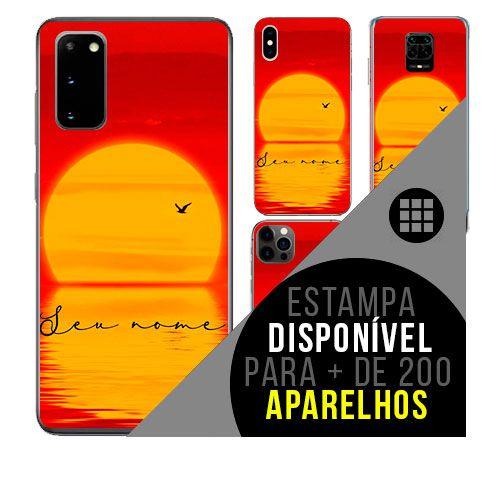 Capa de celular personalizada com nome - todos aparelhos - Por do sol