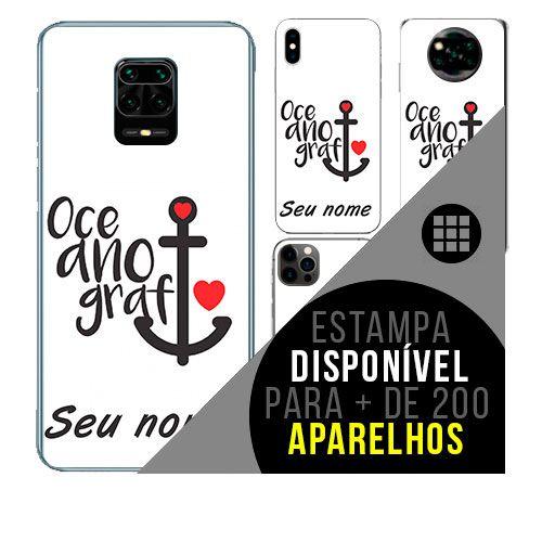Capa de celular personalizada com nome - todos aparelhos - Oceanografia