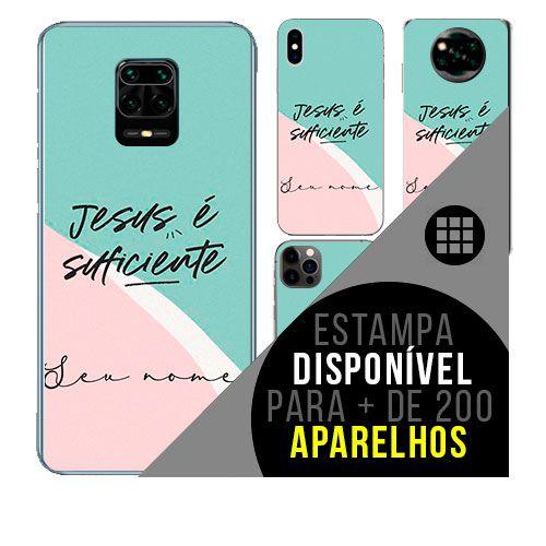 Capa de celular personalizada com nome - todos aparelhos - Jesus Cristo - Católica - Evangélica