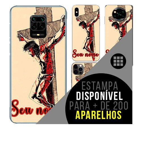 Capa de celular personalizada com nome - todos aparelhos - Jesus Cristo - Cristianismo - Cristão
