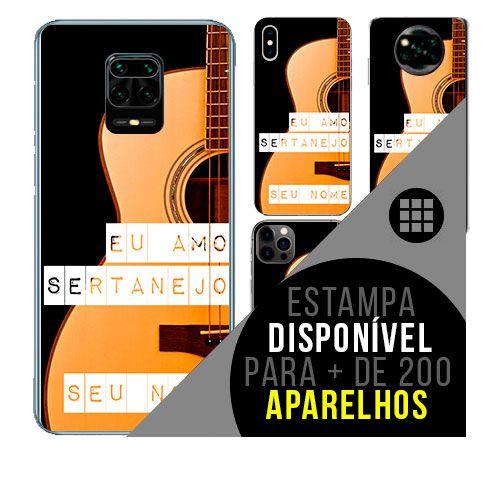 Capa de celular personalizada com nome - todos aparelhos - Sertanejo