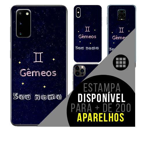 Capa de celular personalizada com nome - Signo Gêmeos- astrologia