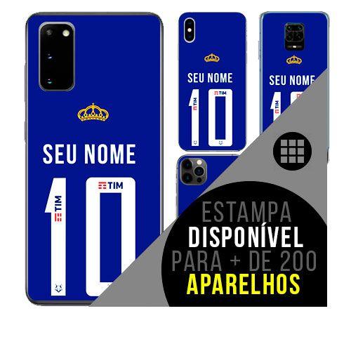 Capa de celular camisa de time com nome personalizável - Cruzeiro