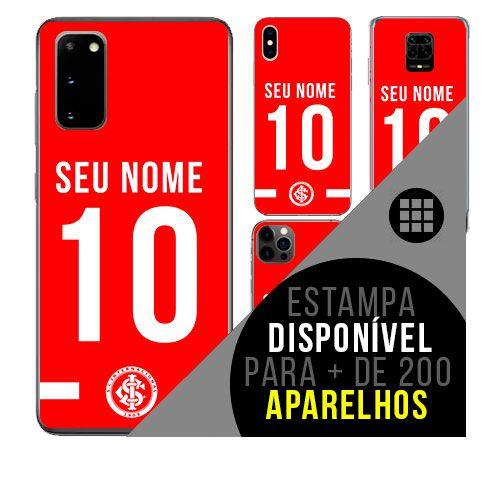 Capa de celular camisa de time com nome personalizável - Internacional - Inter RS