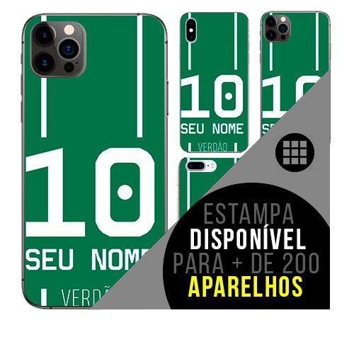 Capa de celular camisa de time com nome personalizável - Verdão